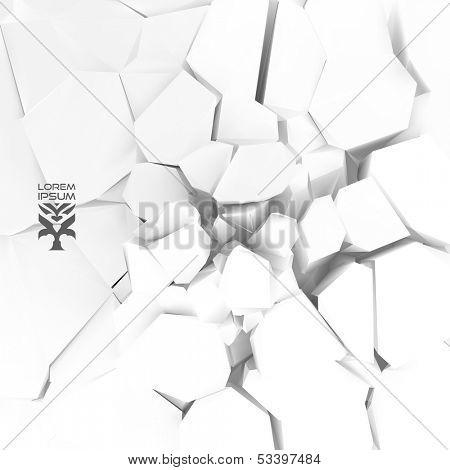 Cracked background. Vector illustration.