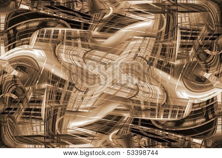 Abstract Futuristic City Buildings