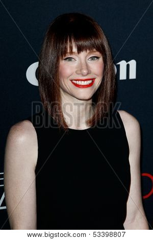 NEW YORK- OCT 24: Actress Bryce Dallas Howard attends the premiere of Canon's 'Project Imaginat10n' Film Festival at Alice Tully Hall at Lincoln Center on October 24, 2013 in New York City.