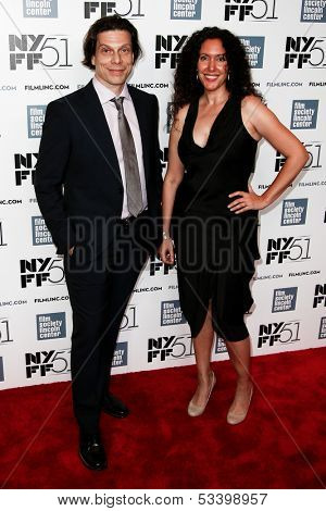 NEW YORK-OCT 1:  Frank Keraudren and Allison Berg attend 'Jimmy P: Psychotherapy Of A Plains Indian' premiere during the New York Film Festival at Alice Tully Hall on October 1, 2013 in New York City.