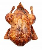 foto of roast duck  - whole roast duck on a white background - JPG