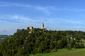 foto of apennines  - View of the church of Montebonello on the Apennines  - JPG