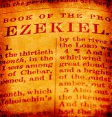 stock photo of biblical  - Close up of a antique Holy Bible - JPG