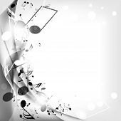 foto of clefs  - abstract musical background with notes - JPG