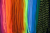 foto of end rainbow  - Colorful shoe laces bright close up background photo - JPG