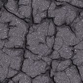 Cracked Asphalt Road. Seamless Tileable Texture.
