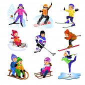 stock photo of sled  - winter sports - JPG