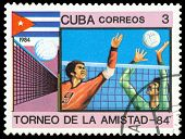 Vintage  Postage Stamp. Volleyball.