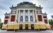 stock photo of drama  - Okhlopkov Drama Theatre in Irkutsk Russia - JPG