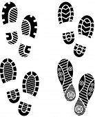 image of soles  - Set of four pairs of shoes print - JPG