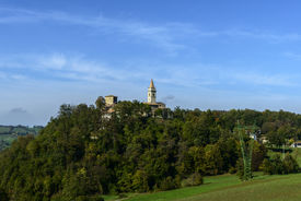 image of apennines  - View of the church of Montebonello on the Apennines  - JPG