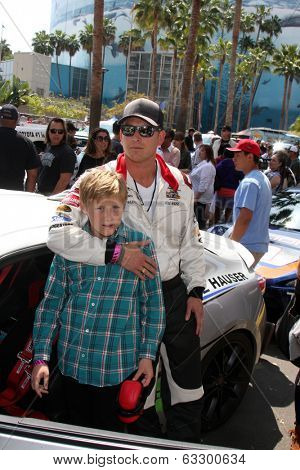 LOS ANGELES - APR 12:  Cole Hauser, son at the Long Beach Grand Prix Pro/Celeb Race Day at the Long Beach Grand Prix Race Circuit on April 12, 2014 in Long Beach, CA