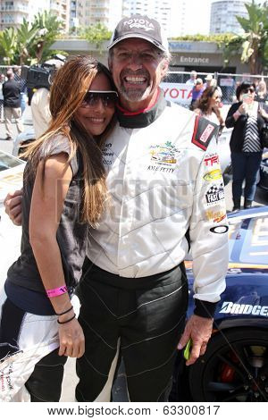 LOS ANGELES - APR 12:  Vanessa Marcil, Kyle petty at the Long Beach Grand Prix Pro/Celeb Race Day at the Long Beach Grand Prix Race Circuit on April 12, 2014 in Long Beach, CA