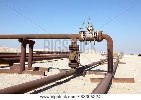 Oil Pipeline In The Desert