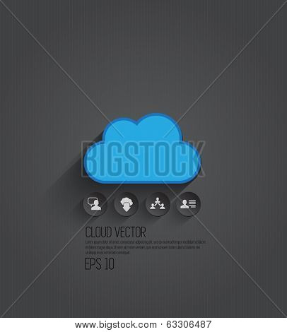 Cloud, vector illustration
