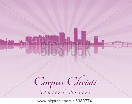 Corpus Christi Skyline In Purple Radiant Orchid