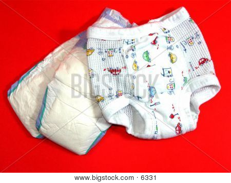 Potty Pants & Diaper