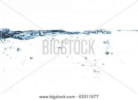 closeup of water waves isolated on white