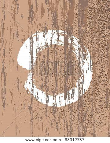 Zen Buddhism Symbol Wood Texture Background