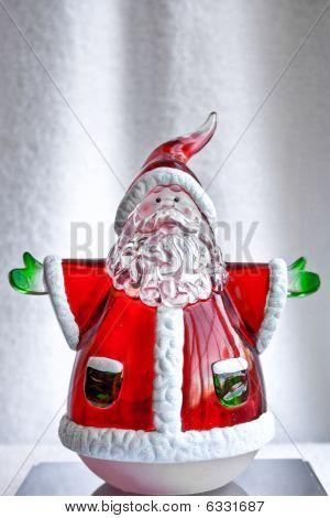 Glass Santa Decoration