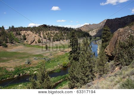 Valley Floor Of The Crooked River