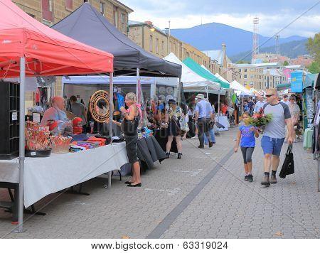 Salamanca Market Hobart Australia