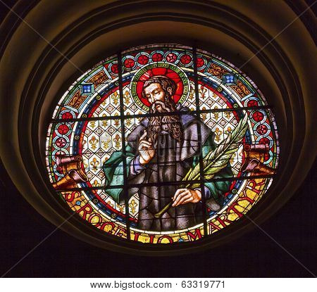 Catholic Martyr Stained Glass Basilica Cathedral Andalusia Granada Spain