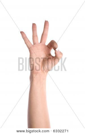 Hand machen ok Seufzen