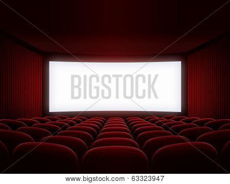 cinema screen for movie presentation