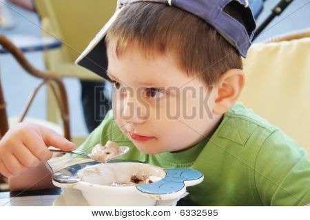 Boy Eats Ice-cream