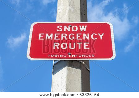 Snow Emergency Route