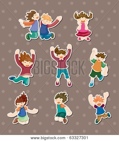Child Jump Stickers
