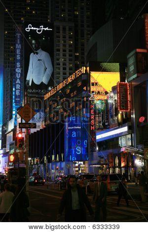 Times Square, NY At Night