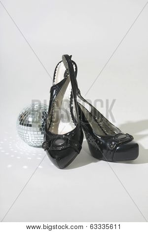 Female Shoes And Little Disco Ball