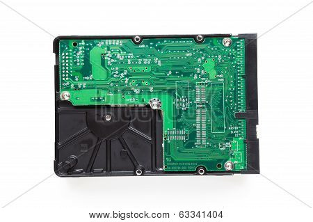 Hard Disk Drive On White