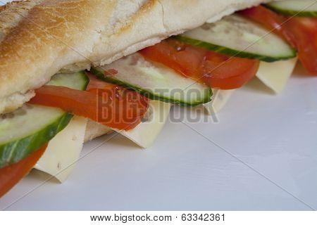 Healthy Baguette Sandwich