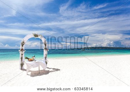 Beautiful Wedding Arch On Tropical Beach