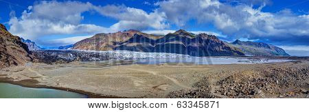 skaftafellsjokull glacier in...