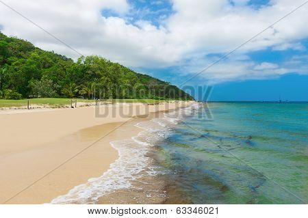 Tropical Beach on Moreton Island, Queensland, Australia