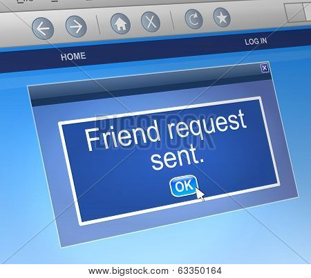 Friend Request Concept.