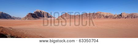 Panorama Of Wadi Rum
