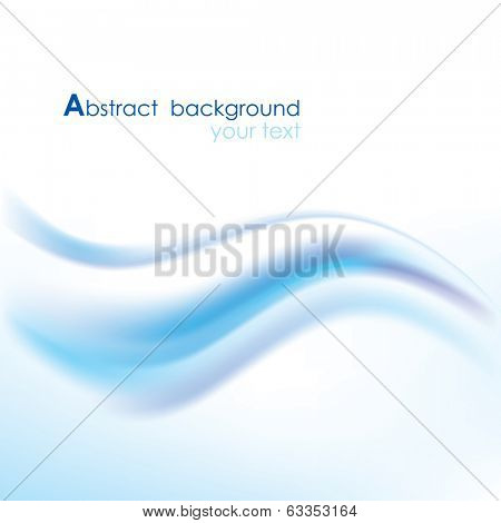 Vector blue background with abstract wave