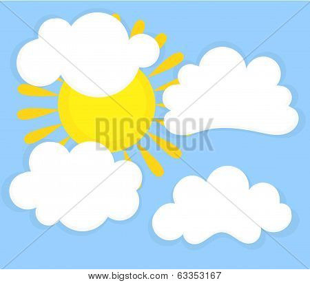 Blue Sky, Clouds And Sun