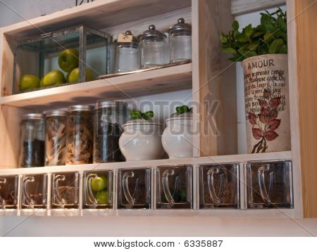 Beautiful classical kitchen shelves and spices rack stock photo stock images bigstock - Beautiful photoshelves ...