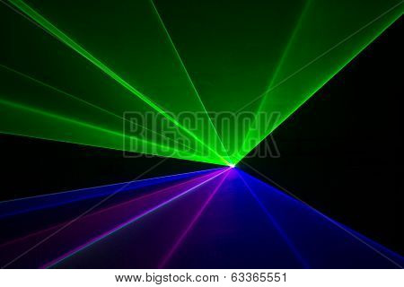 Blue, Green, And Red Laser Beams