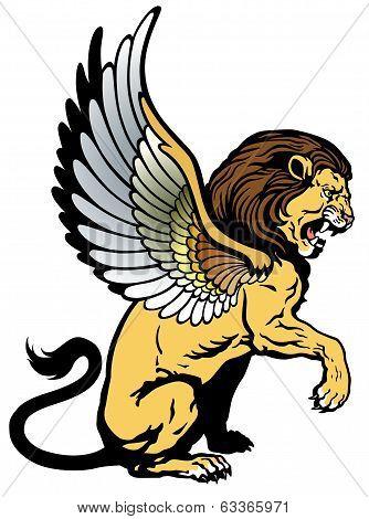 Sitting Winged Lion