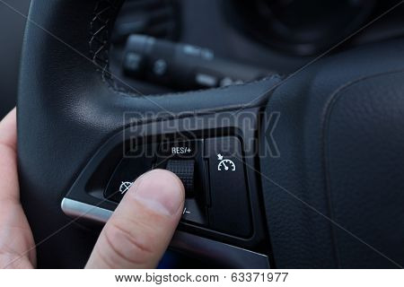 Speed Limitation On A Steering Wheel In Modern Car