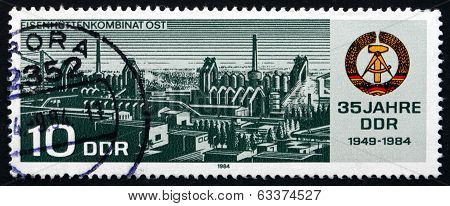 Postage Stamp Gdr 1984 Ironwork Collective Combine East