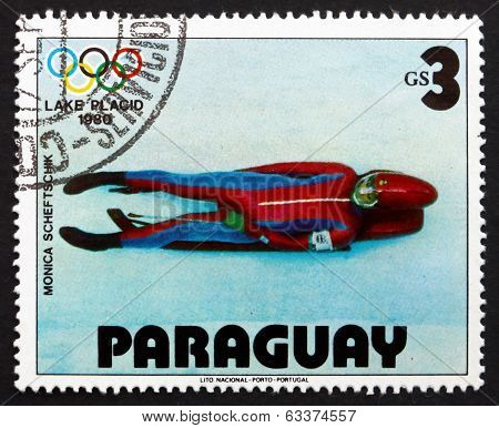 Postage Stamp Paraguay 1979 Monica Scheftschik, Luge
