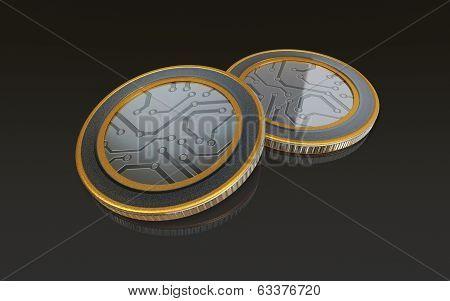 Digital Max Coins Black